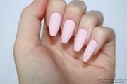matte pastel pink coffin nails