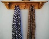 shelf with hooks, wood na...