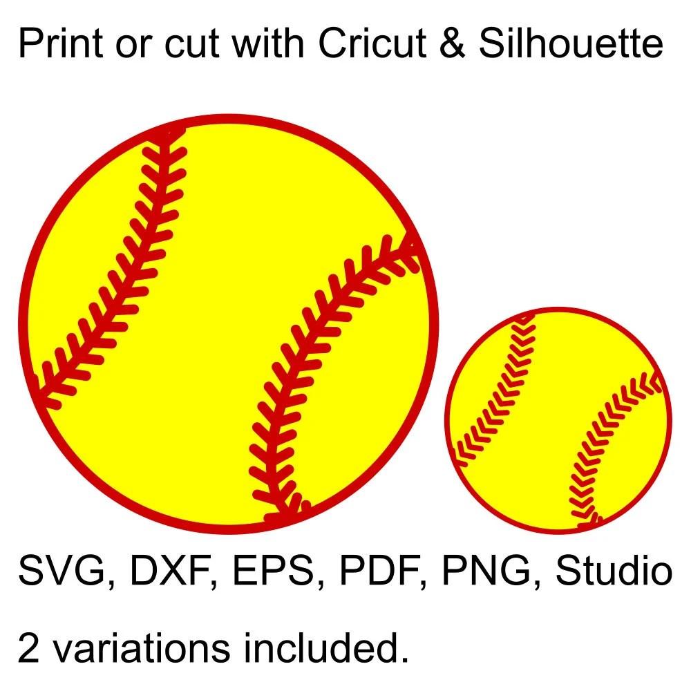 Softball Ball Svg File Cricut & Silhouette