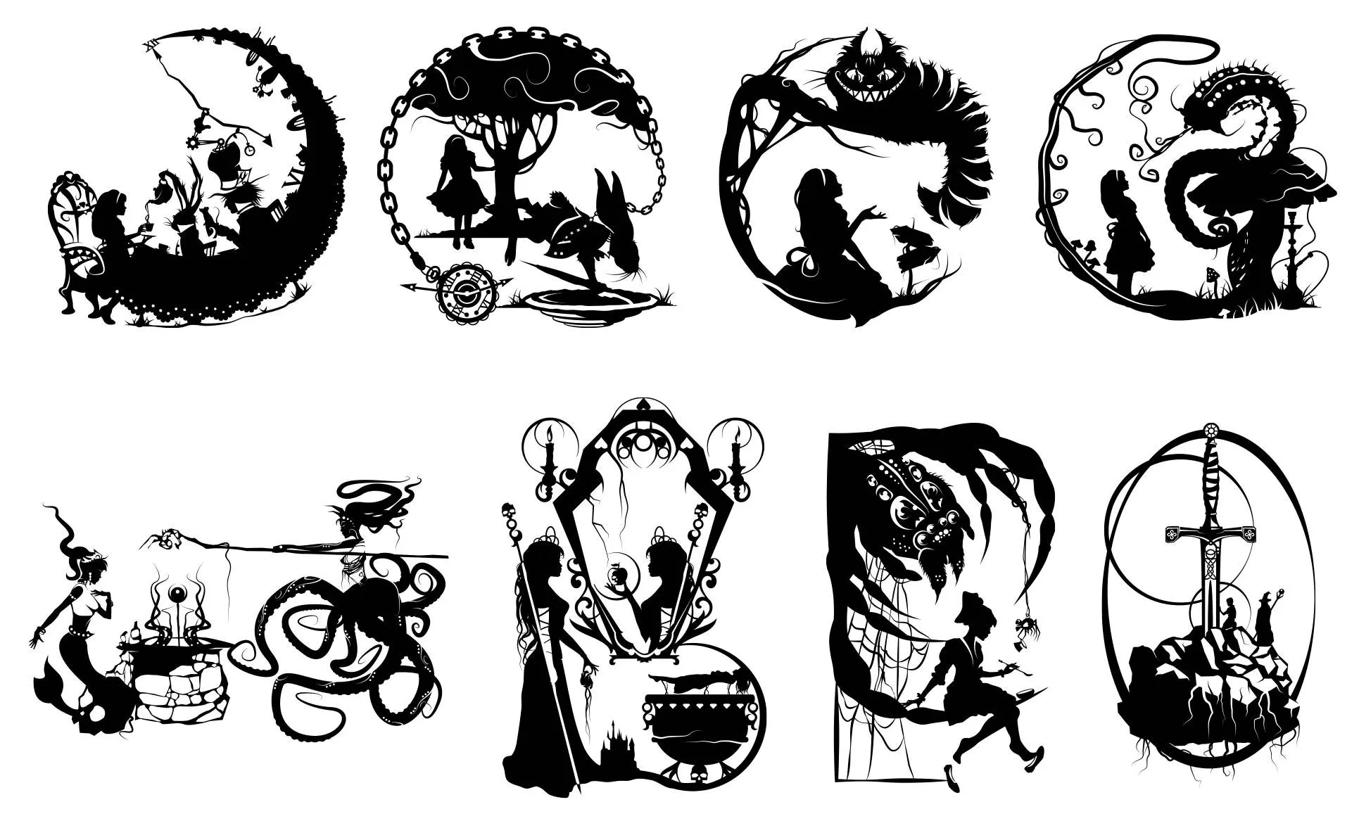 Prints Of Will Pigg S Storybook Fables Silhouette Paper