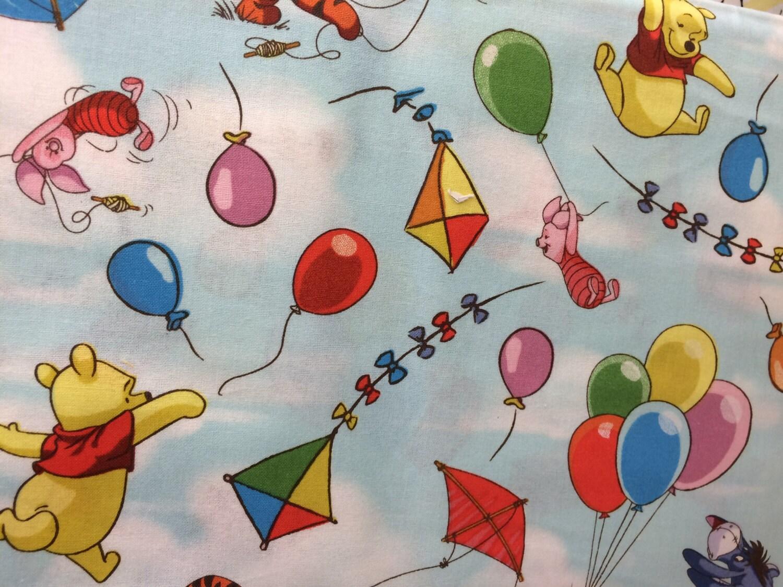 Disney Winnie Pooh Kites & Balloons Fabric Featuring