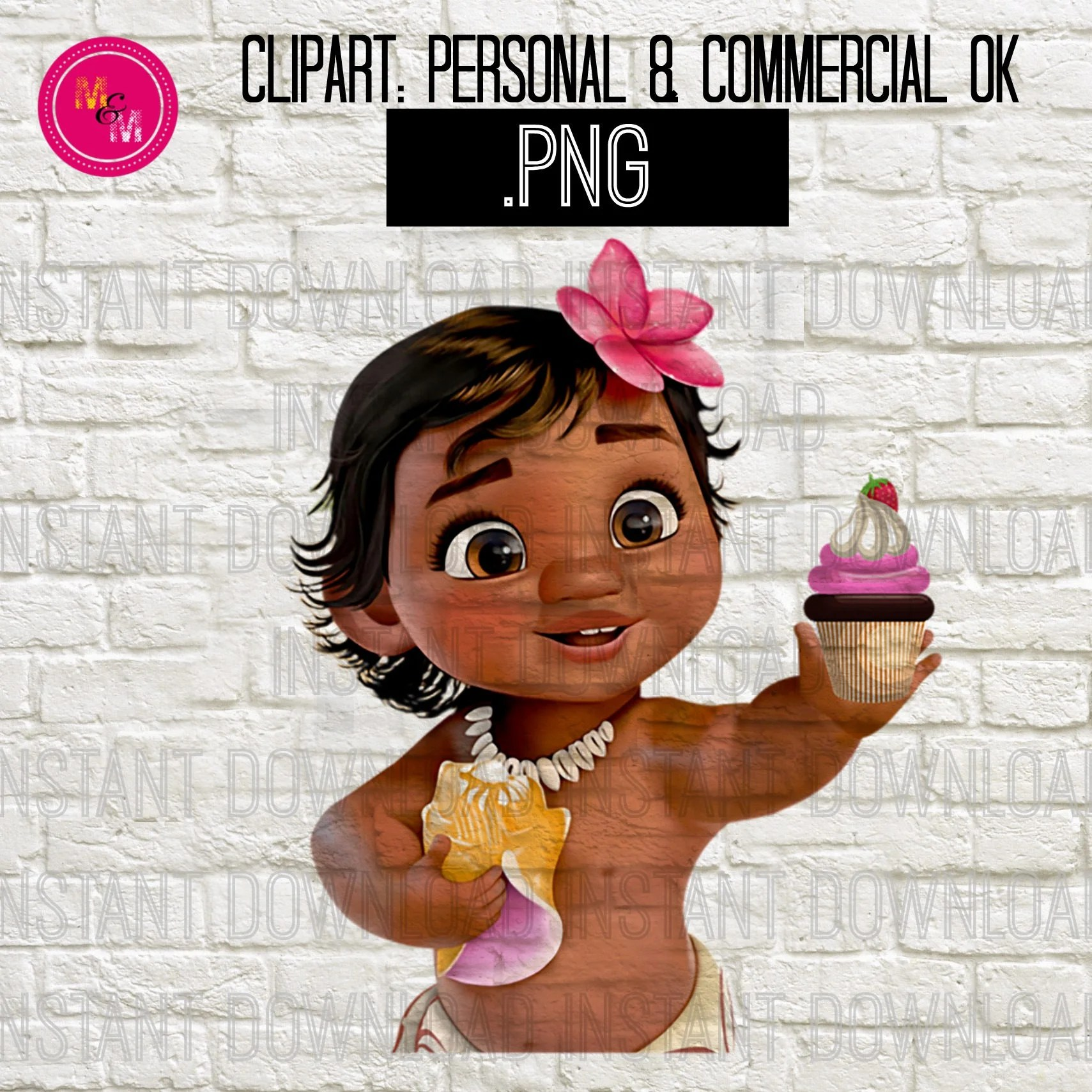 Instant Download Baby Moana Png File Baby Moana Clipart Baby