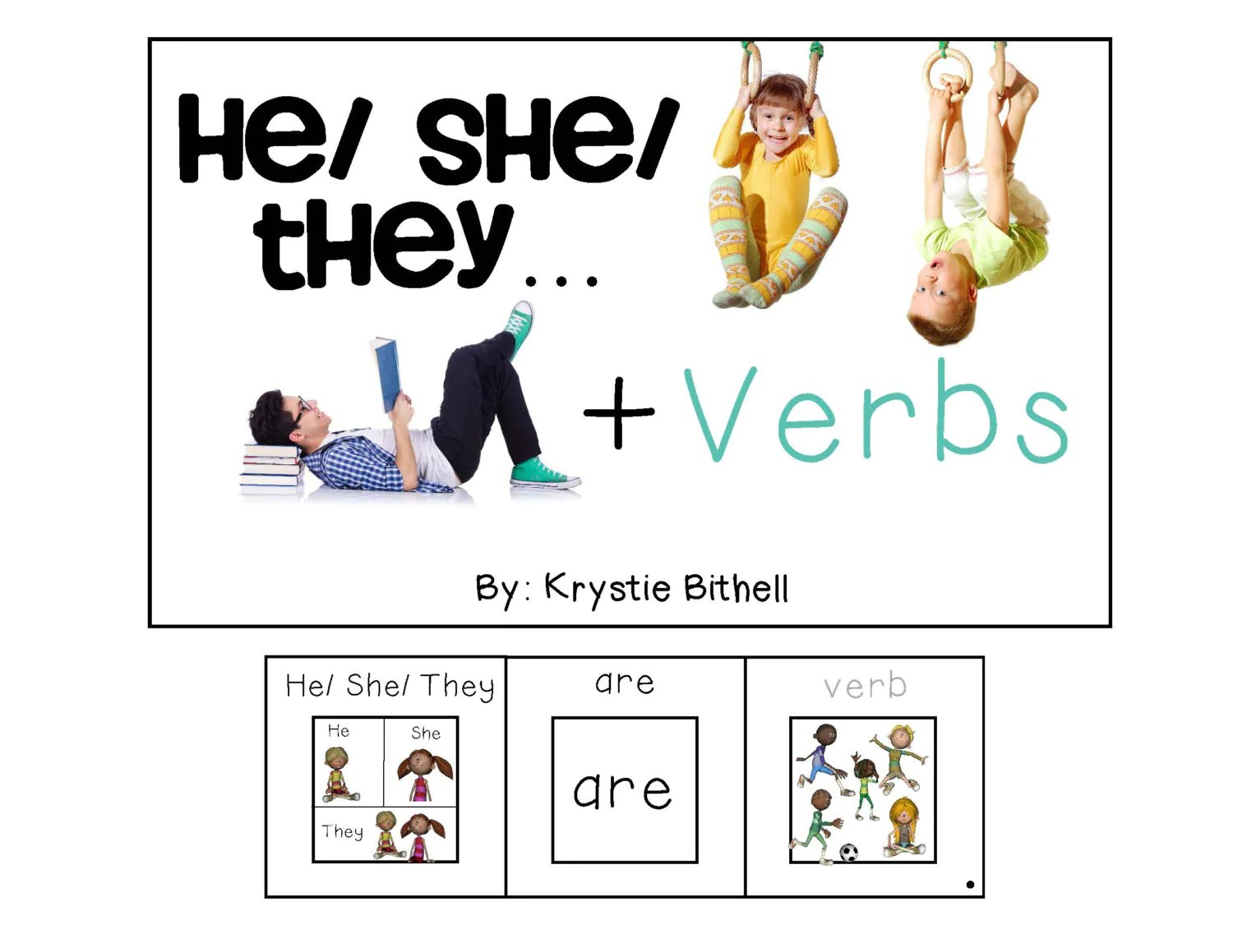 Verbs He She They Adapted Book Special Education Autism