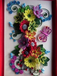 Handmade Quilling Paper Flower Wall Art Quilling Flowers