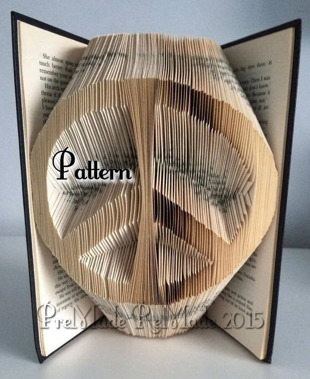Peace Symbol Folded Book Art Pattern Instant Download