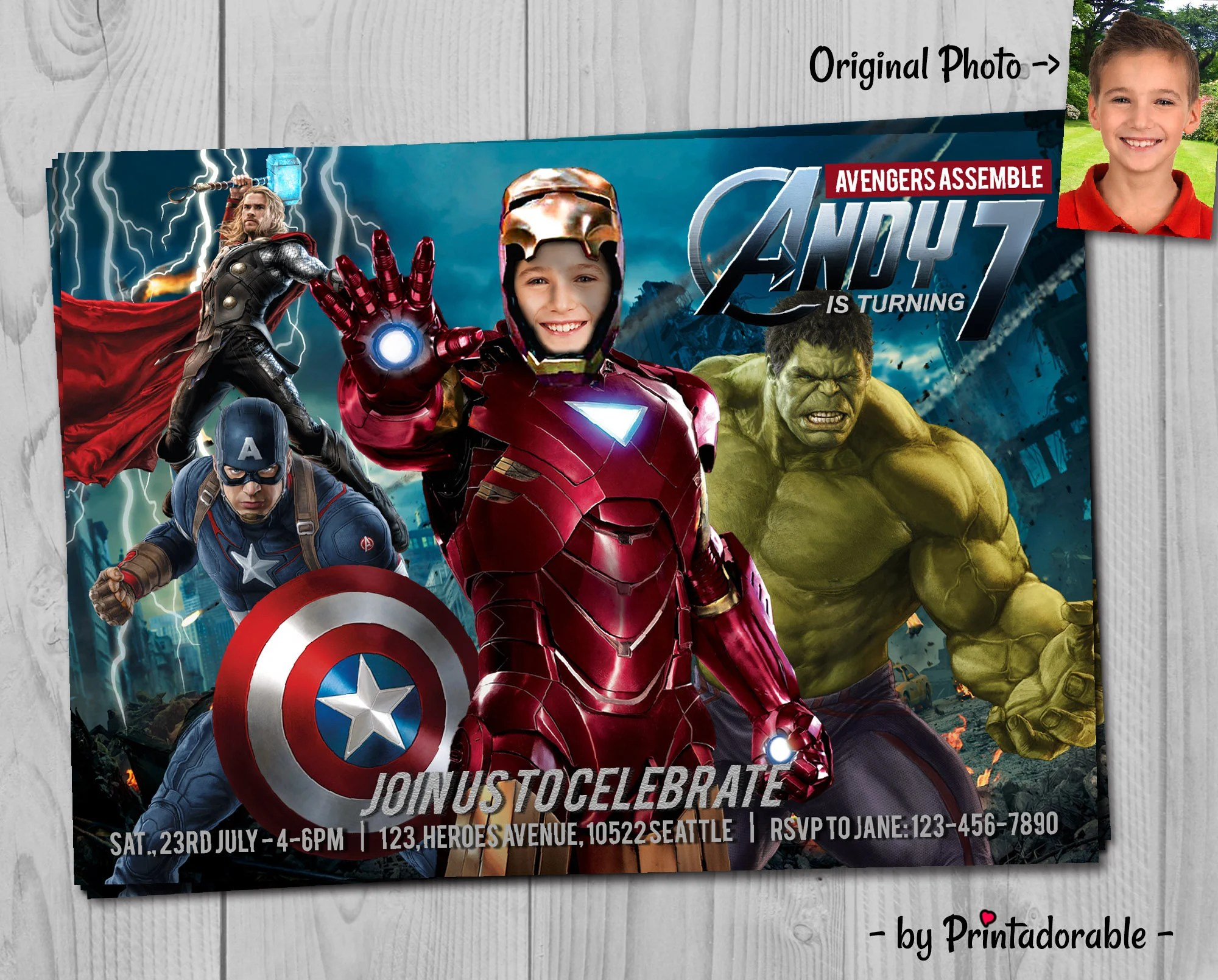 Iron Man Invitation Avengers Invite Iron Man Invite