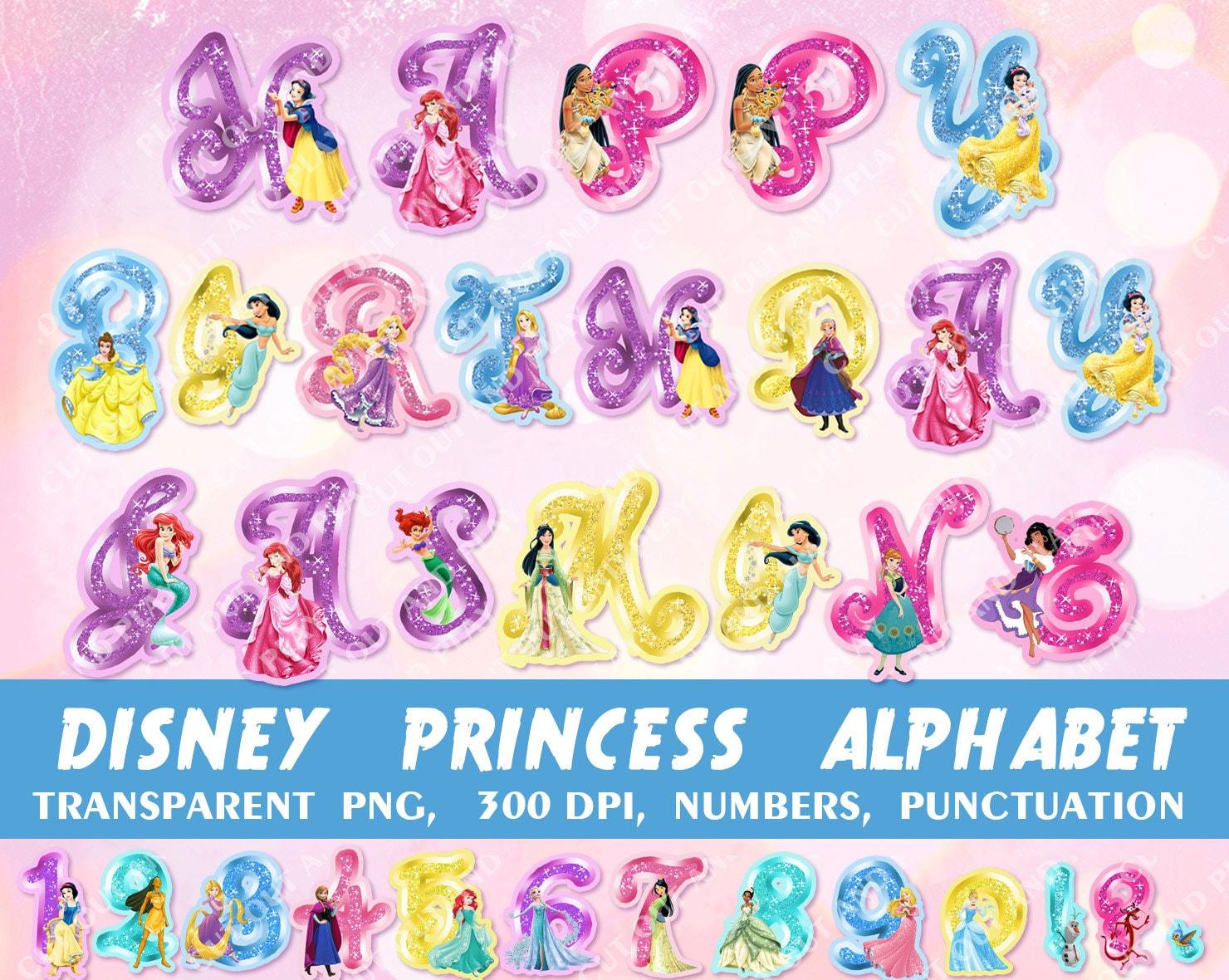 Disney Princess Alphabet Coloring Pages