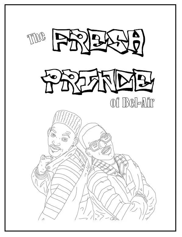 Fresh Prince of Bel-Air Coloring Book // Instant Printable