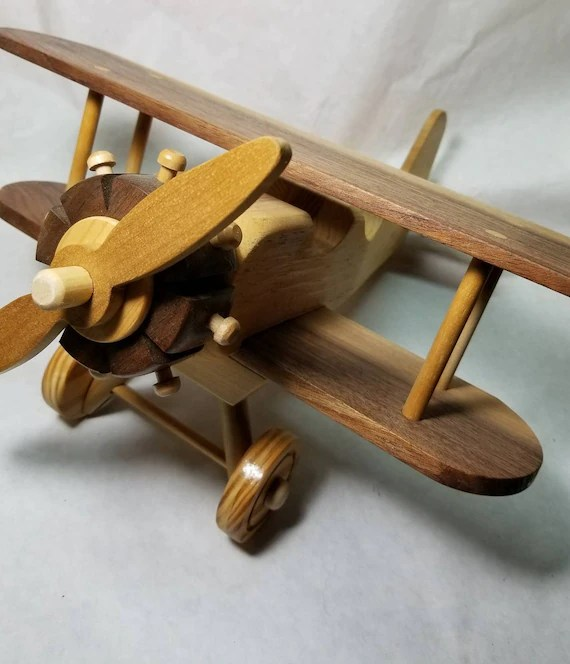 Toy Model Wooden Airplane Airplane Made Of All Wood Shelf