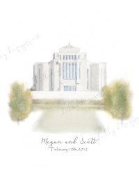 LDS Temple, LDS Wall Art, Personalized Gift, Printable Art ...