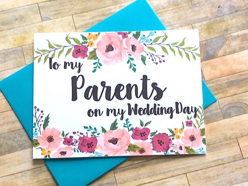 Eltern der Braut Geschenk Danke fr Eltern Hochzeit Mom