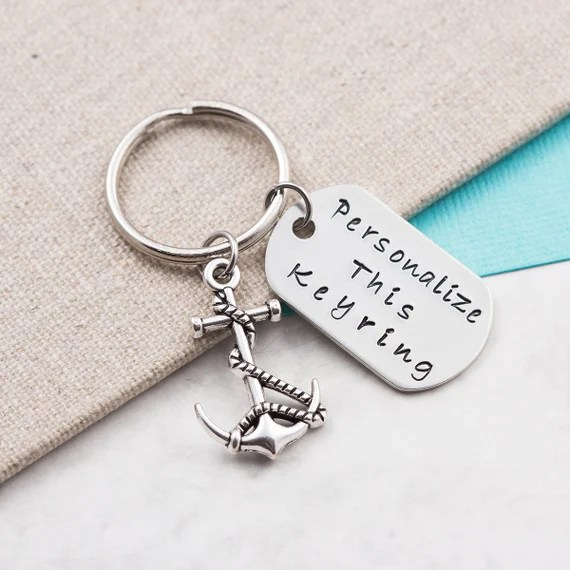 Personalised Anchor Keyring
