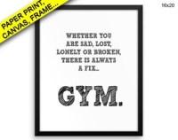 Gym wall art | Etsy