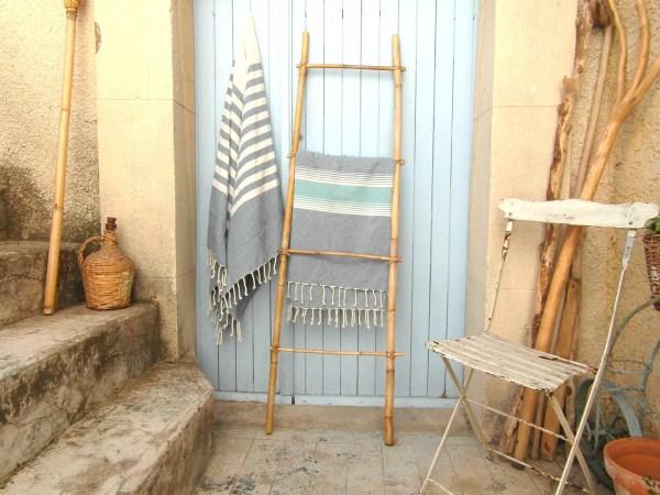 Bamboo Ladder Towel 4 Tread 4.8 Ft 1.5 Mtr