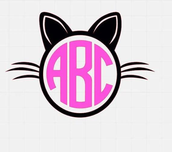 Download Cat Monogram Svg Monogram Svg File Svg Files svg cutting