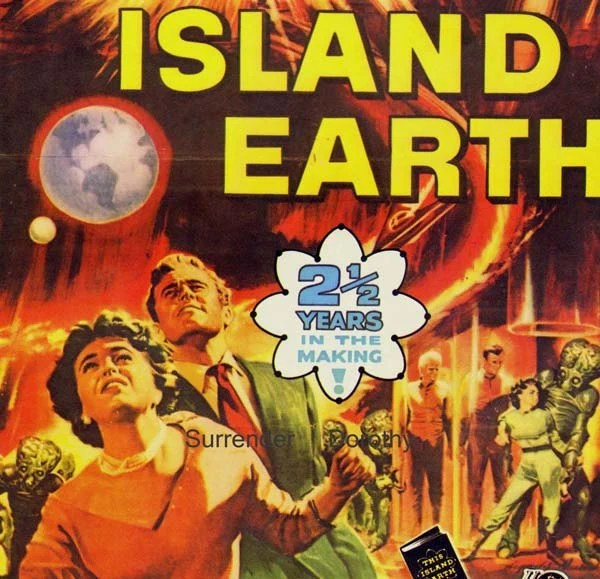 This Island Earth 1950s Sci Fi Horror Movie Poster Full Color