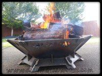 36 Hexagon .25 Steel Plate Modular Fire Pit Kit