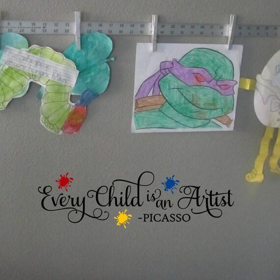 Children Art Display Vinyl Wall Sticker