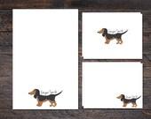 Dachshund Dog Stationery ...