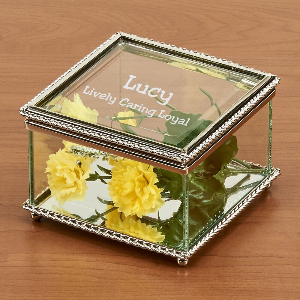 Glass Jewelry Boxes Personalized