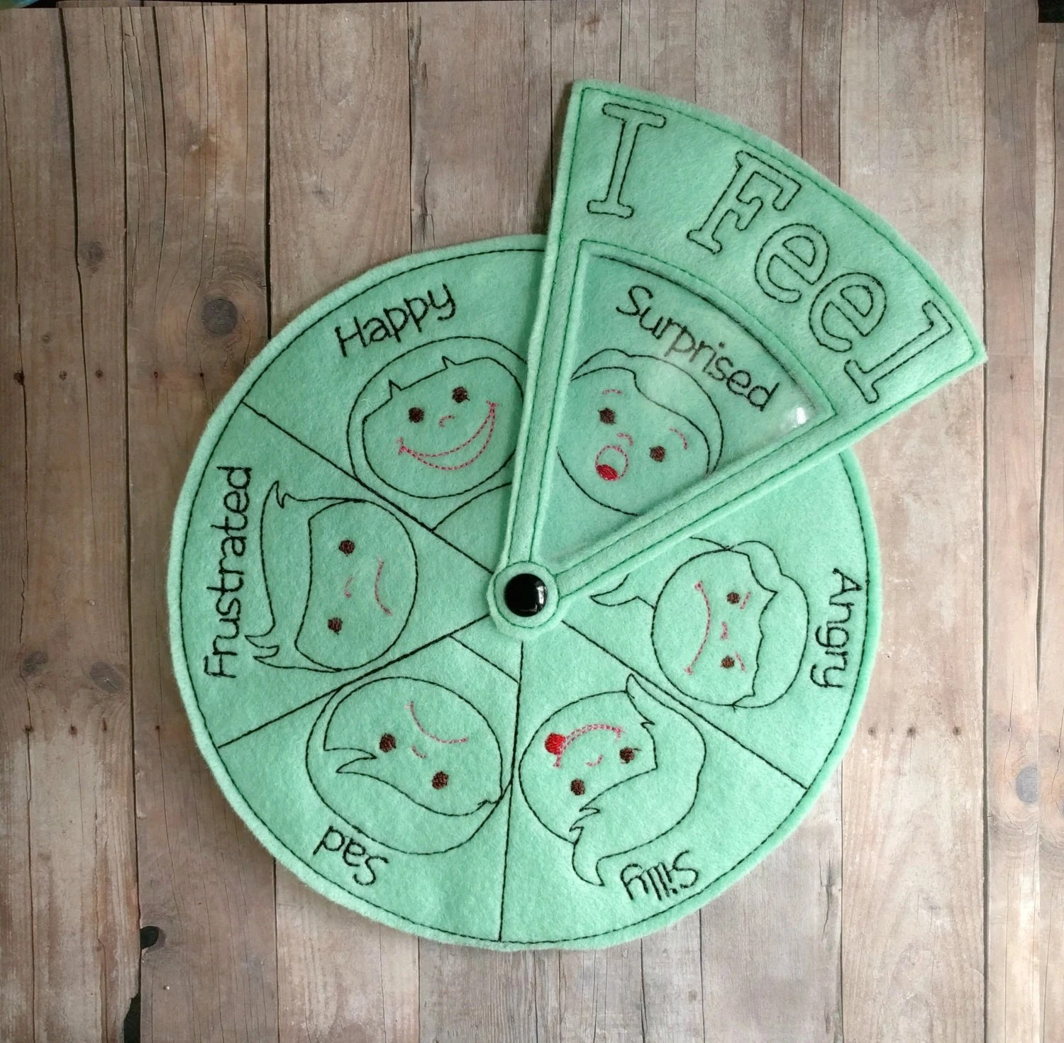 Emotions Wheel Helps Teach Children About Feelings For