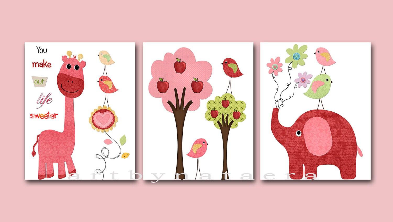 Baby Girl Room Decor Baby Girl Nursery Print Baby Nursery