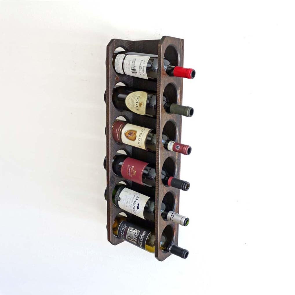 Wall Mounted Wine Rack 6 Bottles Vertical