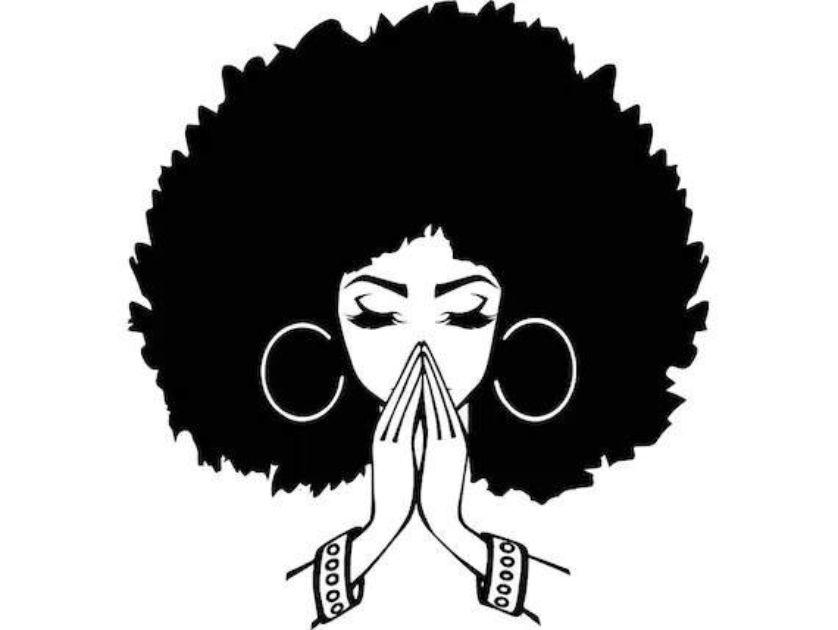black women praying nubian princess