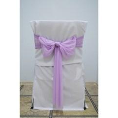 Wedding Chair Covers Lilac Tempur Pedic Office Reviews Decorative Sash Tulle Ribbon Set