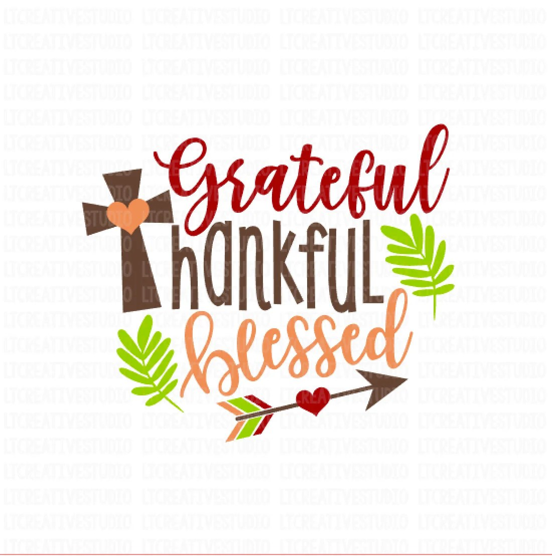 thankful and blessed svg fall