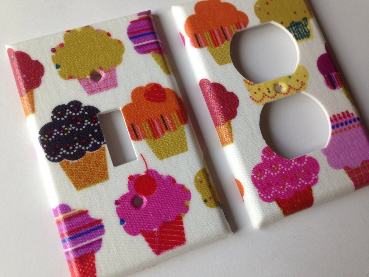 Cupcake Light Switch Plate Cover Single Light Switch Cover