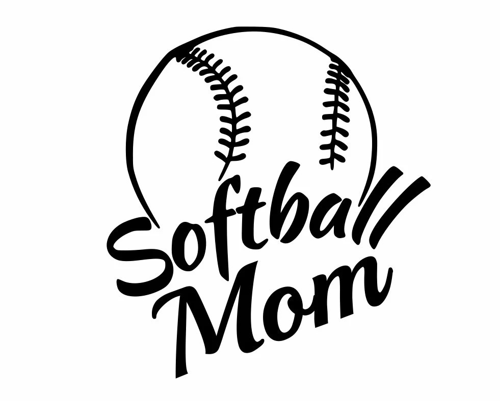 Sports Decals Softball Mom Show support for your team
