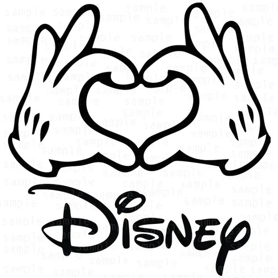 Download Hands Mickey Disney Hearts SVG Mickey svg download files