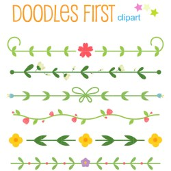 clip border simple floral flower card scrapbooking making borders cupcake watercolor flowers etsy paper toppers crafts doodles handmade yet