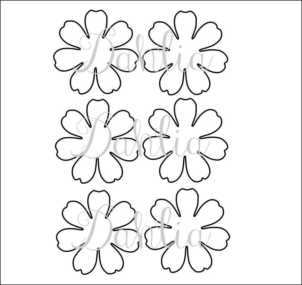 DIY printable flower templates PDF petal templates DIY