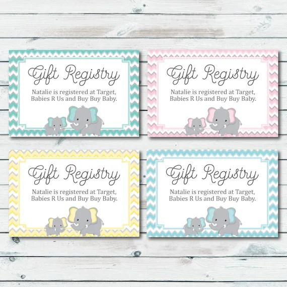 Baby Registry Cards Registry Inserts Baby Shower Gift