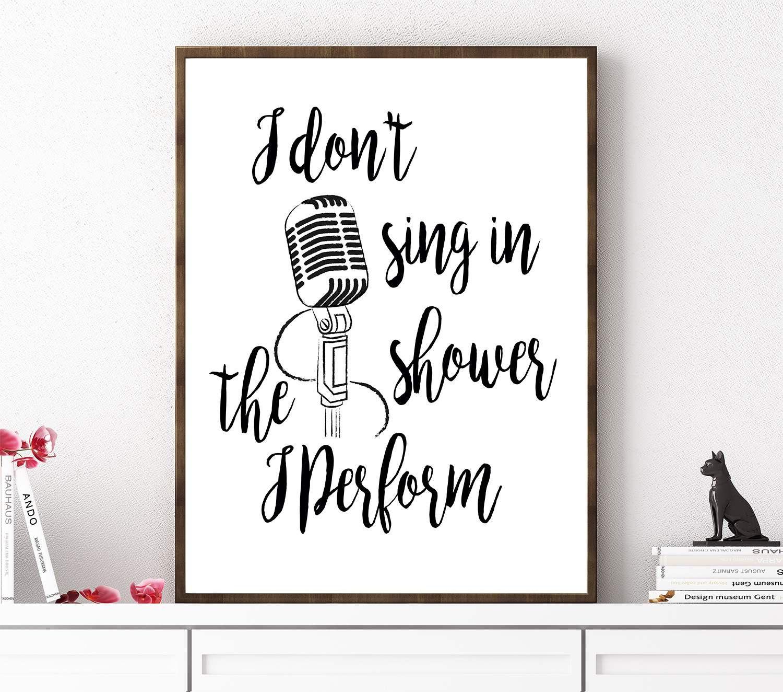 Funny Bathroom Sign PRINTABLE Poster Bathroom Print