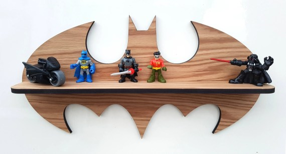 Oak Superhero Lego Display Shelf