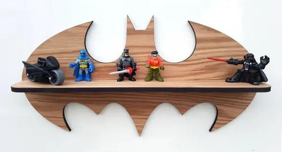 Oak Superhero Lego Display Shelf