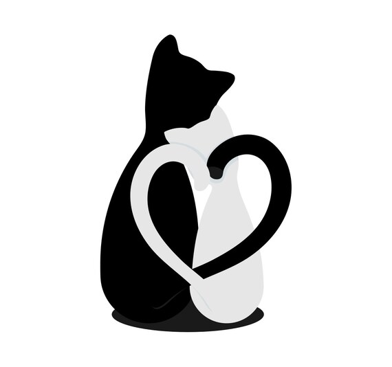 Download Cat lover gift SVG files for Silhouette Heart Love Decal ...
