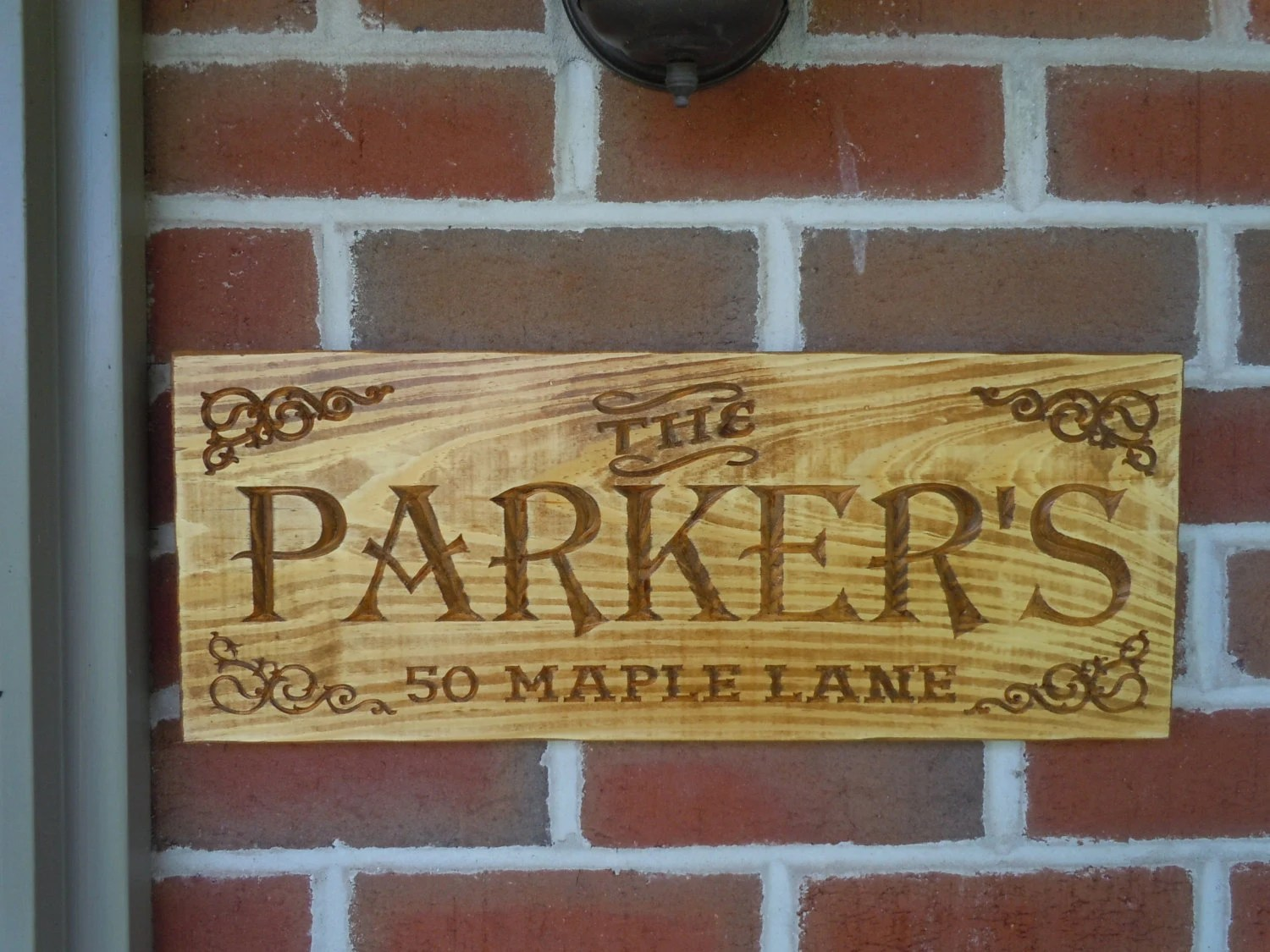 Custom Outdoor Wooden Signs Personalized Family Address