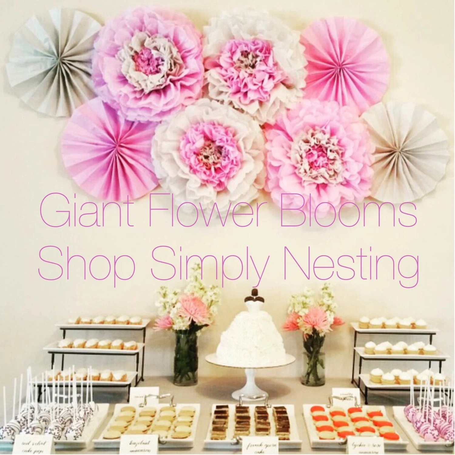 Items Similar To Mothers Day Decor Giant Flower Blooms
