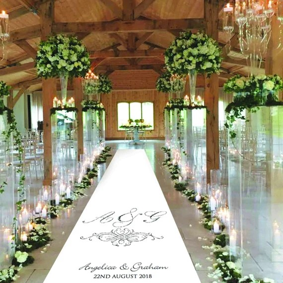 Wedding Aisle Runners, Add Name and Date, by Bridestobedesigns