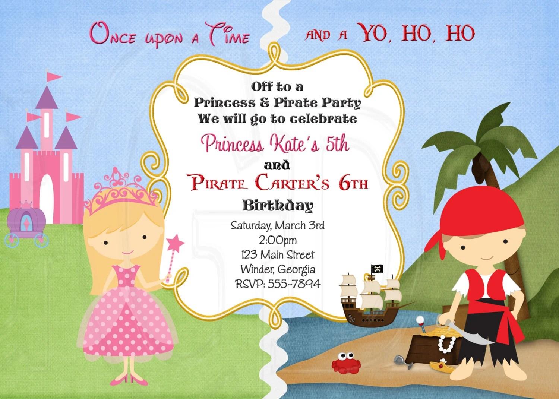 Pirate Pirate Et Invitation Danniversaire De Princesse