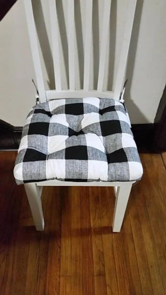 Tufted Chair Pads Seat Cushions Anderson Buffalo Plaid