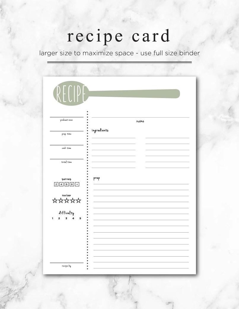 editable recipe card template free 3 5 chekwiki co
