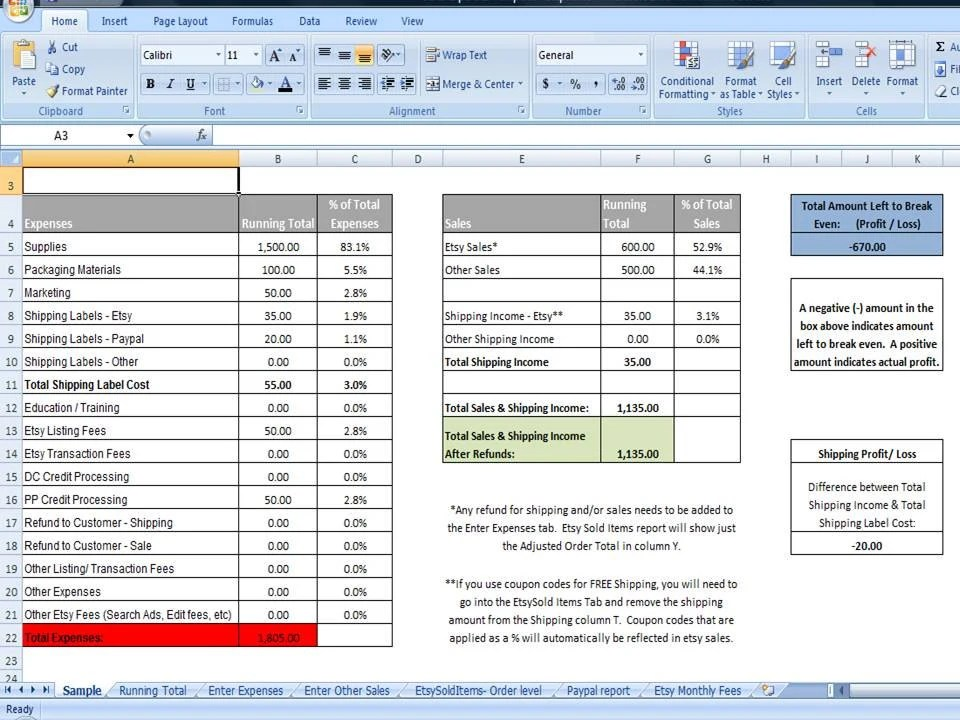Fifo Spreadsheet Template Choice Image - template design free download