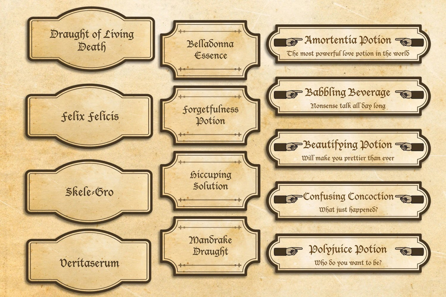 List Of Synonyms And Antonyms Of The Word Harry Potter Printable Labels
