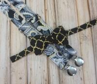 Black Metallic Gold Lattice Bow Tie and Black Gold Paisley
