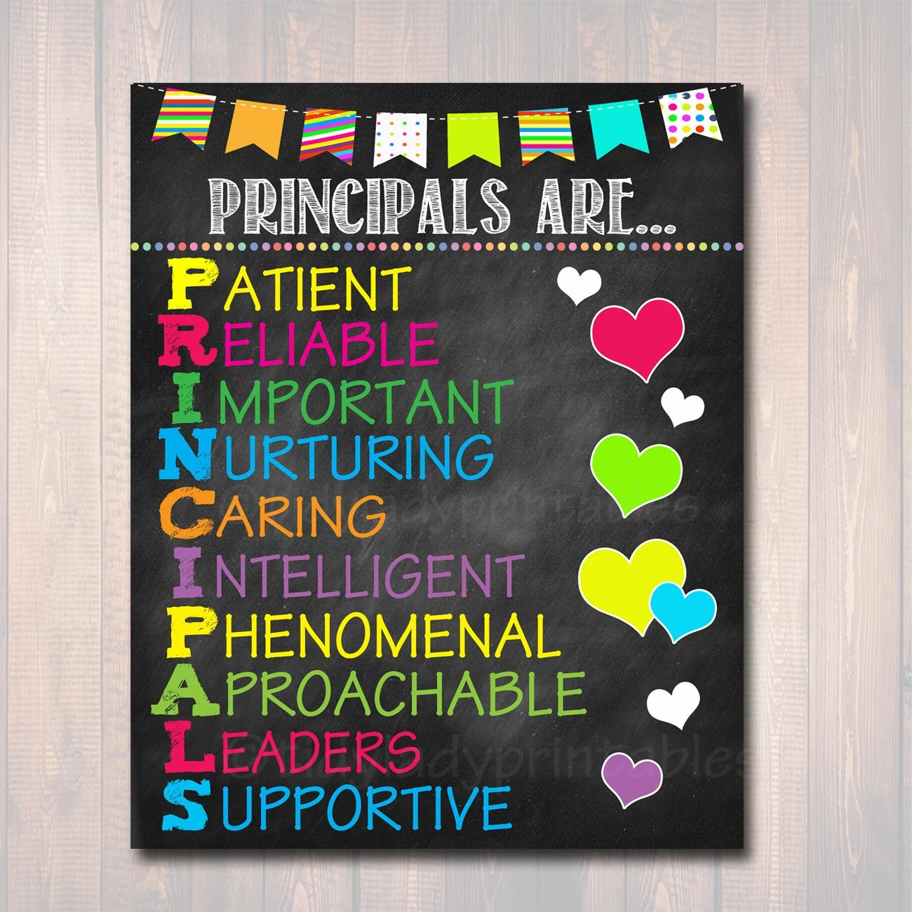 School Principal Poster Principals Are Acronym Art School